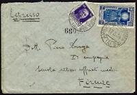 """1934 - Espresso per Firenze reso franco con """"Anno Santo"""" Lire 1,25 (n.348)"""