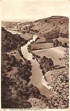 Symonds Yat, River Wye from Yat Rock, Forest of Dean Panorama 1957