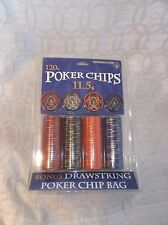 Poker Chip Set 120 count new in original packaging (11.5g) Fairkeep Pro Players