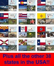 FRIDGE MAGNET COLLECTION OF ALL 50 STATES IN THE USA