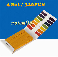 4X 80pcs PH 1-14 Litmus Paper PH Test Strips Urine Saliva Testing Indicator Kit#