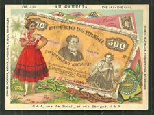 Brazil Brasil Banknote Money Woman Costume Coat of Arms  1899