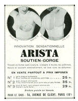 Publicité ancienne Arista soutien-gorge 1935 issue de magazine