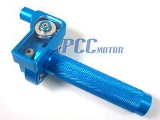 "7/8"" BLUE CNC THROTTLE CLAMP HONDA CRF70 KLX110 SDG SSR 107 110 125 BIKE P CL07"