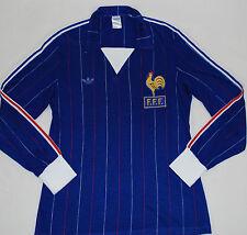 1982-1983 FRANCE ADIDAS VENTEX HOME FOOTBALL SHIRT (SIZE M)