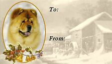 Chow Chow Christmas Labels by Starprint - No 1