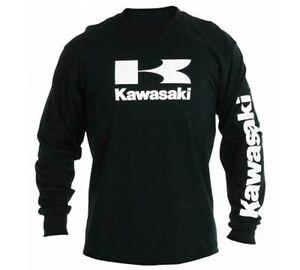 Kawasaki Stacked Logo L/S T-Shirt - Size Small - Genuine Kawasaki - Brand New