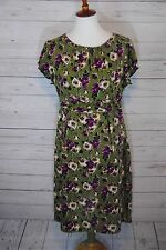 Womens BODEN V Neck Floral Cotton Dress 14R