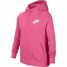 Felpa Invernale Bambina Full Zip Cappuccio Nike Sportswear BV2712-684 Rosa