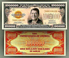 Thanks a Million Novelty Bank Note Ronald Reagan Thank You Gift Idea Dollars USA