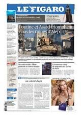 Le Figaro 14.12.2016 N°22502**POUTINE-ASSAD*STAR WARS*20282 personnes espionnées