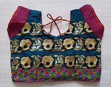 Sari Saree Blouse Choli Tread Work Colour Hand Stitched Indian Bollywood Asian