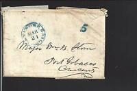 BALTIMORE, MARYLAND STAMPLESS 1850 COVER with RAILROAD CL, PRINTED 5.
