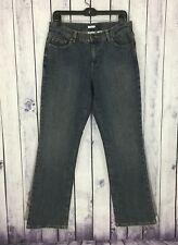 Liz & Co Womens Denim Jeans Size 8 J402 Stretch Bootcut Flap Pockets