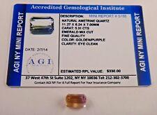 Natural Ametrine Golden Purple 5.31 Carats Cert App $330 AGI AMT22
