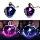 Fairy Love Heart Rose Crystal LED Light Keychain Key Chain Charm Keyring Gifts