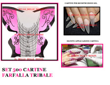 500 NAIL-FORM CARTINE FARFALLA TRIBALE  RICOSTRUZIONE BUTTERFLY UNGHIE GEL UV