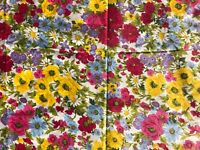 Vtg Waverly 13+ yd Colorful Flower Garden Fabric Scotchguard Good Housekeeping