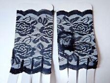 17 fingerlose Handschuhe Spitze meerblau GOTHIC FESTIVAL Stulpen +Pulswärmer