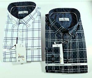MENS CLASSIC FORMAL LONG SLEEVES CHECK CASUAL DRESS SHIRT fm 9.99 (466)