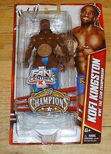 2012 WWE WWF Mattel Kofi Kingston Wrestling Figure MIP Champions Tag belt K Mart