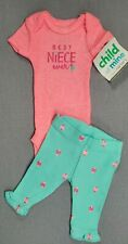 Baby Girl Clothes New Child Of Mine Carter's Preemie 2Pc Best Niece Ever! Outfit