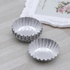 24Pcs Non-stick Reusable Cupcake Muffin Baking CupAluminum Alloy Egg Tart Molds