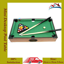 NEW Kids Mini Desktop Pool Table Set Billiard Table Tabletop Pool Table 20pc Set