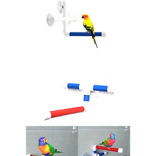 Suction Cup Shower Perch Stand for Bird Parrot Macaw African Greys Budgies Co.