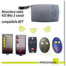 Ricevitore radio ricevente 2 canali compatibile BFT 433 Mhz tutti i modelli