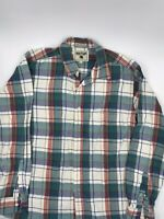 MENS Great Plains LUMBERJACK LONG SLEEVE BUTTON DOWN PLAID SHIRT RED SIZE L