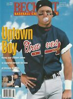 June 1996 Beckett Baseball Magazine  Atlanta Braves Chipper Jones on the Cover