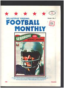 Original Vintage 1989 Vol. 1 No. 7 LATGENT Football Monthly Price Guide