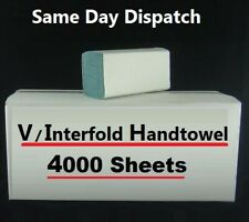 More details for multifold hand towel tissue 1ply blue / green c fold v fold z fold 4000 sheets
