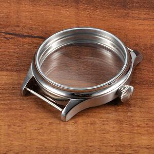 44mm CORGEUT Watch Sterile 316L SS Case Fit ETA 6498 6497 Hand Winding Movement
