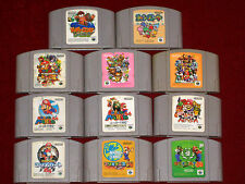 Nintendo 64 N64 SUPER SMASH MARIO KART PARTY 2 3 GOLF TENNIS YOSHI DIDDY KONG