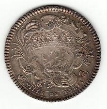Nice 1753 silver jeton '' Ville de Paris '', Louis Bazile De Bernage
