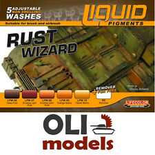 Rust Wizard Weathering Liquid Pigments Set 6x22ml - LIFECOLOR LP02