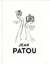Pub années 50 Parfum Jean PATOU ~ Eau de toilette ~ 25x35 cm ~ FRFN224