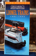 Greenbergs Pocket Price Guide Lionel Trains 1901 - 1994