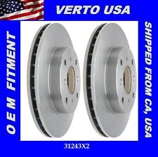 Set Of Disc Brake Rotors  - Front For Acura CL 1998-1999 , Honda Accord 4 Cyl