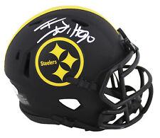 Steelers T.J. Watt Authentic Signed Eclipse Speed Mini Helmet JSA Witness