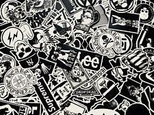 100 Stück Schwarz Weiß hochwertige Aufkleber Set Stickerbomb Decals Aufkleber
