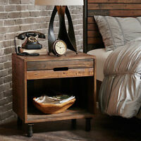 Rustic Gray Teak Wood Square Accent Side End Table ~ Geometric Cube w//Cubby Hole