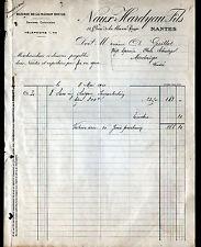 """NANTES (44) RIZ / RIZERIE DE LA MAISON ROUGE """"NAUX & HARDYAU Fils"""" en 1911"""
