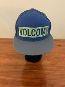 210 Fitted by FlexFit Volcom Blue/Grey Cap Hat  7 1/4 - 7 5/8