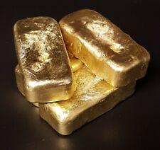 Handcast Aluminium Bronze Ingots each weighs around 250g Looks like Gold Bullion