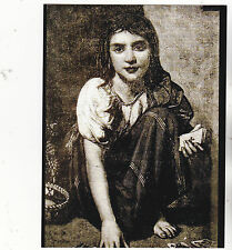 """*Postcard-""""Fortune Teller Girl with Deck of Cards""""  (B239)"""