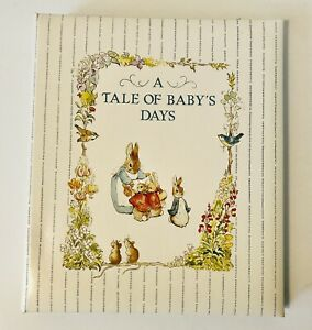 """Vintage 1990's Peter Rabbit """"A Tale of Baby's Days"""" Baby Memory Book C.R. Gibson"""