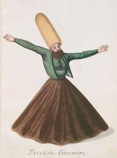 TURCO Ottomano Turchia Uomo vorticoso Derviscio VINTAGE 7x5 pollici Stampa Ristampa